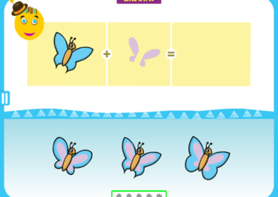 Level 12 of 50: Notice the shape of the butterfly's wings.