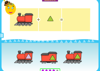 Level 20 of 50: Notice the shape of the train and the color of the window.