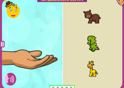 Level 15 of 15: Give me the giraffe, after you give me the bear, but before you give me the dinosaur.