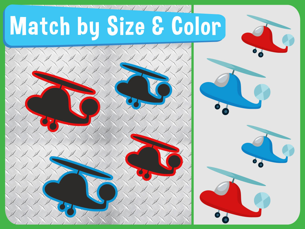 match by size and shape