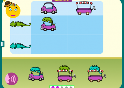 Level 35: Combine the two shapes: the dinosaur goes on top.