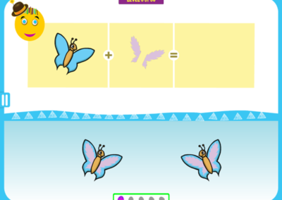 Level 5 of 50: Notice the butterfly's orientation.