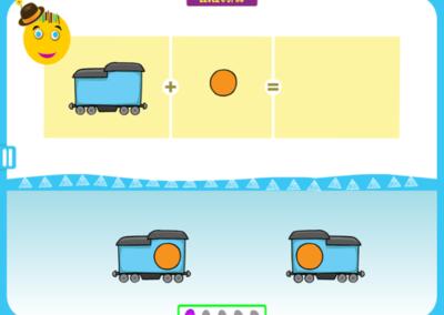 Level 5 of 50: Notice the train's orientation.