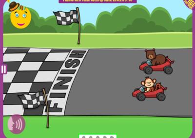Level 3 of 20: The monkey overtook the bear. Who won?